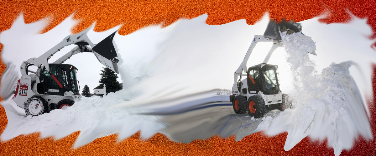 Our Bobcat Machine to Make Snow Removal Easy